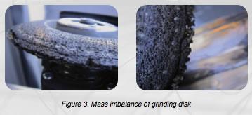 Grinding disk imbalance
